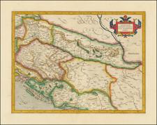 Croatia & Slovenia, Bosnia & Herzegovina and Serbia & Montenegro Map By  Gerard Mercator