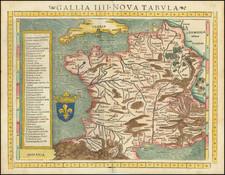 Gallia IIII Tabula Nova [France]   By Sebastian Munster