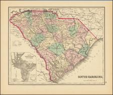 South Carolina Map By O.W. Gray