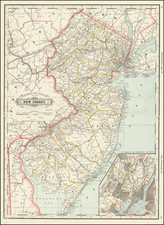 New Jersey Map By George F. Cram