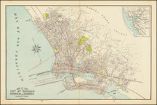 San Francisco & Bay Area and Other California Cities Map By George F. Cram