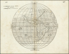 Western Hemisphere, Southwest, South America, California and America Map By Giovanni Battista Ramusio