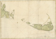 New England, Massachusetts and American Revolution Map By Joseph Frederick Wallet Des Barres