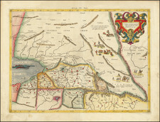 Central Asia & Caucasus and Persia & Iraq Map By  Gerard Mercator