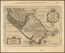 Argentina and Chile Map By Henricus Hondius