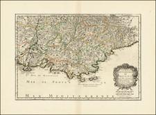Sud et Alpes Française Map By Nicolas Sanson