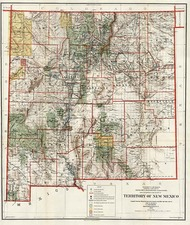 Plains and Southwest Map By General Land Office