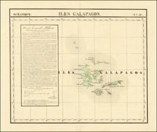 Peru & Ecuador and Pacific Map By Philippe Marie Vandermaelen
