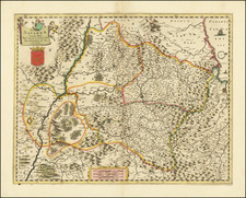 Spain Map By Frederick De Wit