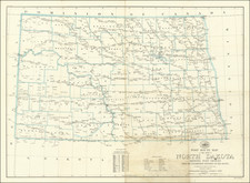 South Dakota Map By United States Post Office