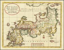 Japan Map By Isaak Tirion / Giambattista Albrizzi