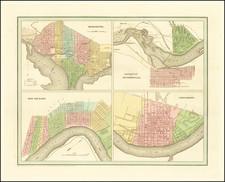 Washington, D.C., Louisiana, Kentucky and Ohio Map By Thomas Gamaliel Bradford