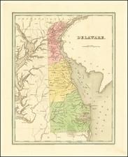Delaware Map By Thomas Gamaliel Bradford