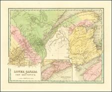 Eastern Canada Map By Thomas Gamaliel Bradford