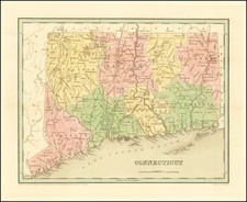 Connecticut Map By Thomas Gamaliel Bradford