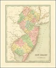 New Jersey Map By Thomas Gamaliel Bradford