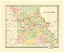 Missouri Map By Thomas Gamaliel Bradford
