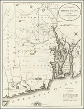 The State of Rhode Island from the Latest Surveys.  1796. By John Reid
