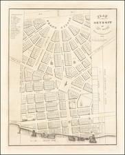 Michigan Map By John Mullett / J.O. Lewis