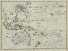 Asia, Southeast Asia, Australia & Oceania, Australia, Oceania and Other Pacific Islands Map By Iohann Matthias Christoph Reinecke