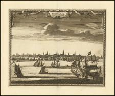 Amsterdam Map By Pieter van der Aa