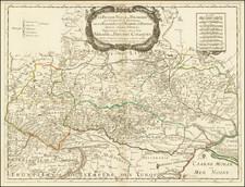 [Russie Rouge]  La Russie Rouge ou Polonoise, qui Comprend les Provinces de la Russie Rouge, de Volhynie, et de Podolie, divisées en leur Palatinats; Vulgairement Connües Sous le Nom d'Ukraine ou Pays des Cosaques . . . 1719 By Nicolas Sanson