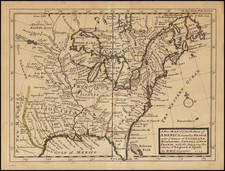 United States Map By Herman Moll