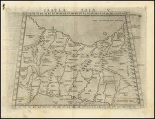Central Asia & Caucasus and Middle East Map By Girolamo Ruscelli