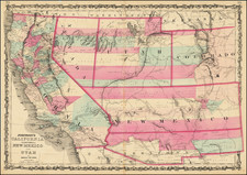 Johnson's California, Territories of New Mexico and Utah By Alvin Jewett Johnson  &  Benjamin P Ward