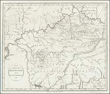 Map of the State of Kentucky with the Adjoining Territories  1795 By John Reid