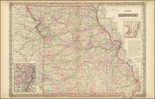 Missouri Map By G.W.  & C.B. Colton