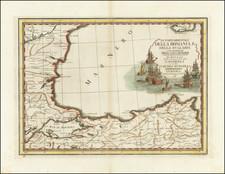 Romania, Bulgaria and Turkey Map By Giovanni Maria Cassini