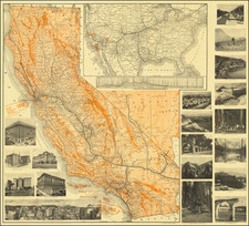 California Map By Poole Brothers