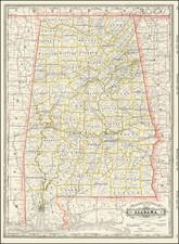 Alabama Map By George F. Cram