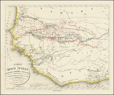 West Africa Map By Carl Ritter