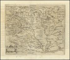 Hungary, Czech Republic & Slovakia, Croatia & Slovenia and Serbia & Montenegro Map By Johannes Matalius Metellus