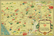 Pictorial Maps and Los Angeles Map By Arthur Justin (Jud) Wright