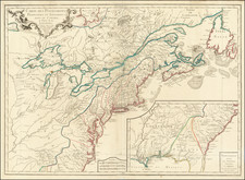 United States, New England, Mid-Atlantic, Southeast, Midwest and Canada Map By S.G. Longchamps