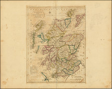 Scotland Map By Mathew Carey