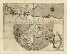Polar Maps, Argentina, Chile, South Africa and Australia Map By Johannes Matalius Metellus