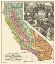 California Map By H.S. Crocker & Co.
