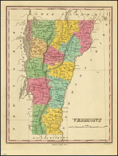 Vermont Map By Anthony Finley