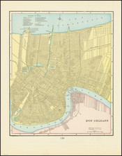 New Orleans Map By George F. Cram