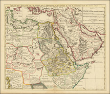 Middle East, Arabian Peninsula, Egypt and North Africa Map By Covens & Mortier