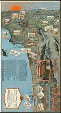 Pictorial Maps, Los Angeles and San Diego Map By Smith-Barnes Corp.