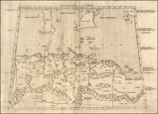 Europe, Mediterranean, Africa, North Africa and Balearic Islands Map By Bernardus Venetus de Vitalibus