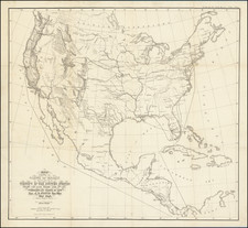 United States Map By United States Bureau of Topographical Engineers