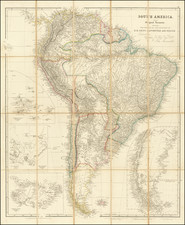 (Large inset of Galapagos Islands)  South America.  From Original Documents, Including The Survey by the officers of H.M. Ships Adventure and Beagle.  Dedicated to Captain R. Fitz Roy, R.N. by John Arrowsmith By John Arrowsmith