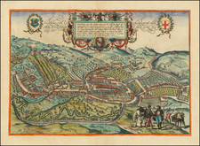 Northern Italy and Other Italian Cities Map By Georg Braun  &  Frans Hogenberg