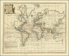 World and World Map By Emanuel Bowen